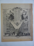 ALMANACH 1875  CALENDRIER   ALLEGORIE  CALENDRIER DU PUBLIC  Rue De La Gare  Lith Ed Boldo Duc Lille Chem 3-20 - Calendriers
