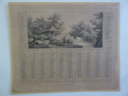 ALMANACH 1869  CALENDRIER  ALLEGORIE  La Chasse    Repos Des  Chasseurs   A Marcilly Edit  Chem 3-16 - Calendriers