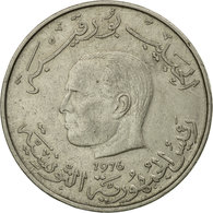 Monnaie, Tunisie, Dinar, 1976, Paris, TTB, Copper-nickel, KM:304 - Tunisie