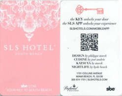 SLS Casino Las Vegas South Beach--989-key Card, Room Key, Schlusselkarte, Hotelkarte - - Cartes D'hotel