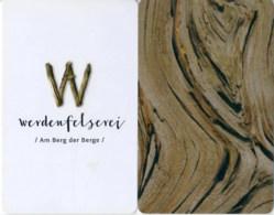 Werdenfelserei Garmisch-Partenkirchen--1404----key Card, Room Key, Schlusselkarte, Hotelkarte - 1404 - Cartes D'hotel