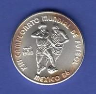 Cuba / Kuba 5 Pesos - Fußball Weltmeisterschaft 1986 In Mexico Ag999 - Monnaies