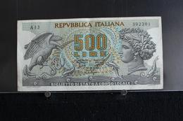 M-An / Billet  -  Italie - République Banca D'Italia  - 500 Lire Aretusa  / Année 1966 - [ 2] 1946-… : République