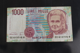 M-An / Billet  -  Italie - République Banca D'Italia  - 1000 Lire  Montessori / Année 1990 - 20000 Lire