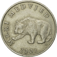 Monnaie, Croatie, 5 Kuna, 2001, TTB, Copper-Nickel-Zinc, KM:11 - Croatia