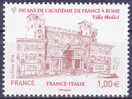 2016 - FRANCIA / FRANCE - ACCADEMIA DI FRANCIA IN ROMA / ACCADEMY OF FRANCE IN ROME - JOINT ISSUE WITH ITALY. MNH - Emissioni Congiunte