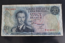 M-An / Billet  - Luxembourg - 20 - VINGT FRANCS,  / Année 7 Mars 1966 - Luxembourg