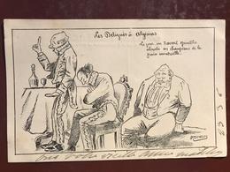 1 CP Illustrateur -  Demasles Les Délégués à Algésiras - Politique Satirique - Satiriques
