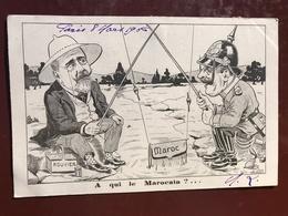1 CP Illustrateur - Lion - A Qui La Marocain , Rouvier , Maroc - Politique Satirique - Satiriques