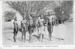 Lot 9 CPA Ethniques CONGO FRANCAIS Haut Oubangui - Bangui - Ethnie - Embarquement D'Ivoire - Afrique