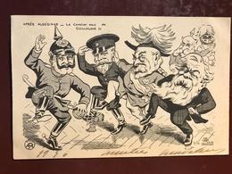 1 CP Illustrateur - Lion - Aprés Algésiras Le Cavalier Seul De Guillaume  - Politique Satirique - - Satiriques