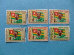 TOGO 1960 Independencia  Yvert 309 / 314 ** MNH - Togo (1960-...)