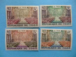 TOGO 1957 LE TECK Yvert 271 / 74 ** MNH - Togo (1960-...)