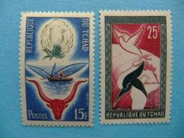 Tchad 1959 Aniversario De La Republica  Yvert 60 / 61 ** MNH - Chad (1960-...)