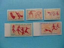 Tchad 1967 Pinturas Rupestres Yvert 146 / 48 + PA 42 / 43 ** MNH - Chad (1960-...)