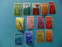 Tchad 1961 - 62 Cabezas De Animales Y Paisajes Yvert 66 / 78 ** MNH - Chad (1960-...)
