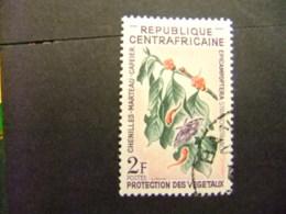 Republica Centroafricana 1965 Flores Yvert 55 FU - República Centroafricana