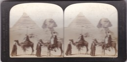 SPHINX AND SECOND PYRAMID, GIZEH, EGYPT. YEAR 1908. HC WITE CO. THE PERFECT STEREOGRAPH - BLEUP - Stereoscopic