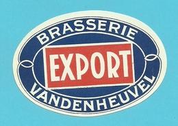 """Brasserie - Brouwerij :Bieretiket/  étiquette Ancienne Bière Belge """"Vandenheuvel """" Export - Bière"""