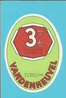 """Brasserie - Brouwerij :Bieretiket/  étiquette Ancienne Bière Belge """"Vandenheuvel """" 3 De/me CATEGORIE - Bière"""