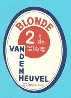 """Brasserie - Brouwerij :Bieretiket/  étiquette Ancienne Bière Belge """"Vandenheuvel """" BLONDE 2 De/me CATEGORIE - Bière"""