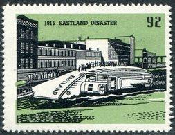 USA History 1915 SS EASTLAND Disaster #92 Ship Steamship Steamer Dampfer Bateau à Vapeur Vignette Poster Reklamemarke - Ships