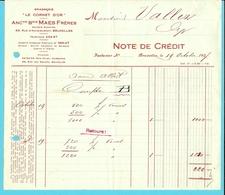 "BRASSERIE - MALTERIE "" LE CORNET D'OR"" /MAES FRERES / BRUXELLES 1927 - Alimentaire"