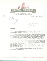 BRASSERIE LES TROIS ROIS / MENIN  1957 - Alimentaire