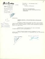 BRASSERIE /BRASSERIE CAULIER BRUXELLES 1954 - Alimentaire