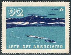 USA Lake Tahoe #92 Ship Steamship Steamer Dampfer Dampfschiff Schiff See Bateau à Vapeur Vignette Poster Reklamemarke - Ships