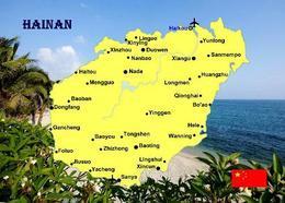 China Hainan Island Map New Postcard Landkarte AK - Chine