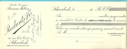 Mandat à L'ordre BRASERIE MALTERIE ROELANTS SCHAERBEEK - Alimentaire