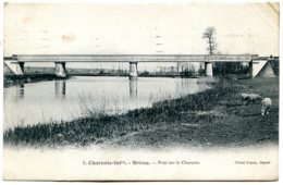 17800 BRIVES SUR CHARENTE - Le Pont, Des Moutons - Editeur Braun N° 8 - Autres Communes