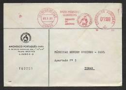 Portugal EMA Cachet Rouge Agriculture Meilleures Récoltes Avec Sulfate D'ammonium 1961 Ammonium Sulfate Meter Stamp - Agriculture