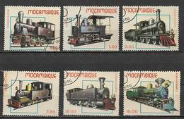 MOZAMBICO  1979 MONZAMBICO VECCHIE LOCOMOTIVE YVERT. 713-718 USATA VF - Mozambique
