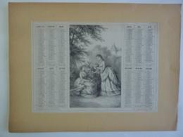 ALMANACH 1874  CALENDRIER   ALLEGORIE  Printanière  A Marcilly Libraire , Imrp Le Mercier Et Cie  Paris Chem 3-21 - Calendriers