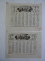 ALMANACH 1873  CALENDRIER SEMESTRIEL  ALLEGORIE CONCERT-INVITATION -Lithographie  -Trianon-Dubois . Duvergé  Chem 3-25 - Calendriers