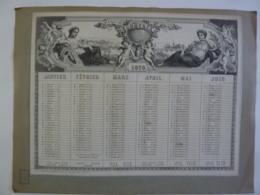 """ALMANACH DU COMMERCE Et De L'INDUSTRIE 1870 CALENDRIER  """"SEMESTRIEL ALLEGORIE"""" Le Monde  Edit Mayoux  Honnoré Chem 3-26 - Kalender"""