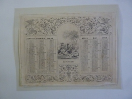 ALMANACH  1871  CALENDRIER  ARABESQUE  ALLEGORIE LA CHASE  Edit Marcilly -libraire  Chem 3-27 - Calendriers