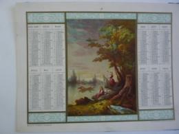 ALMANACH 1872 CALENDRIER Chromo ARABESQUE  ALLEGORIE Paysage Bords De L'eau  Edit Imp Dubois-Trianon Devergé Chem 3-27 - Calendarios