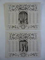 ALMANACH 1870 CALENDRIER ARABESQUE ALLEGORIE Religieuse ANNONCIATION VISITATION  Edit Mayoux Et Honoré Imp Leroy  3-28 - Calendriers