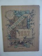 ALMANACH   1887 LIVRE CALENDRIER  ILLUSTRATEUR  H. GOUILLET  DESSIN ALLEGORIE Illustation Moyen-age    Sem 3-31 - Calendriers