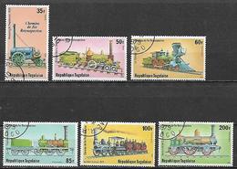 TOGO 1979 LOCOMOTIVE FERROVIARIE YVERT. 961-962+POSTA AEREA 390-393 USATA VF - Togo (1960-...)