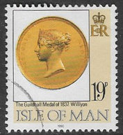 Isle Of Man SG443 1990 150th Anniversary Of The Penny Black 19p Good/fine Used [39/32011/25D - Isle Of Man