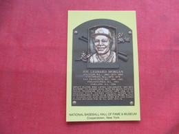 Joe Leonard Morgan       - National Baseball Hall Of Fame  Cooperstown NY     Ref 3225 - Baseball