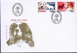 Chiens BERGER Roumain,COLLIE   FDC 2001  Roumanie / Romania - Perros