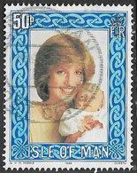 Isle Of Man SGMS227(ex) 1982 Princess Diana 50p Ex Mini Sheet Good/fine Used [12/12494/25D] - Isle Of Man