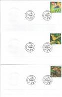 BRAZIL 2000 - Three FDCs With The Theme Fauna: Parrots, Jaguar, Alligator, Etc. - Timbres