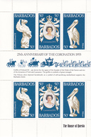 Barbados 1978 25th Anniversary Of Coronation Of QE II,Mint Never Hinged Sheetlet - Barbados (1966-...)