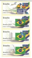 BRAZIL 2017: Brasiliana - Philatelic Exhibition: Brasilia 2017 (four Cinderellas: Parrots, Frog, Toucan). MNH - Vignettes De Fantaisie